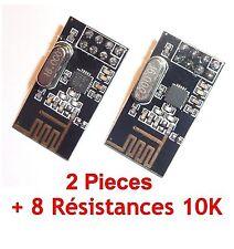 Lot 2 x NRF24L0+ 2.4GHz Wireless Transceiver Module NRF24L01+ 8 Résistances 10K