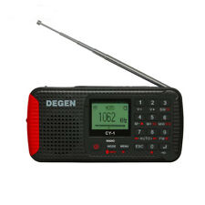 DEGEN CY-1 Bluetooth Radio Solar Powered AM FM SW Receiver Hand Crank Recorder