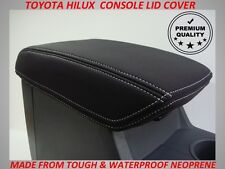 TOYOTA HILUX  NEOPRENE  CONSOLE LID COVER (WETSUIT MATERIAL) JUNE 2005 -AUG 2015