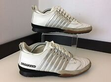 Dsquared2 Ds2 Men's Trainers, White Leather, Uk 5, Eu39, Sneakers, Shoes, Vgc