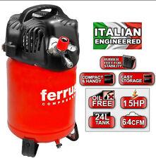 Compressore verticale aria FERRUA TWENTY 24 LT / 10 BAR / 1,5 HP 180 l/min