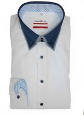 Marvelis Hemd Modern Fit weiss Button Down Doppelknopf - 7237.84.00