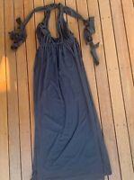 Zachary The Label Size S Black Formal Dress Maxi Halter Side Splits Backless