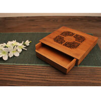 Bamboo Chinese Gongfu Tea Ceremony Table Serving Tray with Water Tank Box