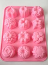 12 Design Bundt Chocolate Silicone Mold Fondant Mat Cake Decorating Cupcake