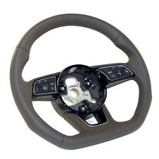 multifunction sports steering wheel flattened Audi A4 8W B9 Leather brown NEW