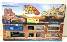 BACHMANN HO BNSF RAIL CHIEF FREIGHT SET 706 train box car set ez track engine