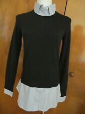 By Bloomingdale's Women's Black Layered Look Cashmere Sweater Small NWT