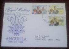 First day of issue, 1981 from Anguilla, commemorating the Royal Wedding