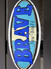 """Vintage 9""""  Brave New World Surfing sticker NJ Shop Point Pleasant"""