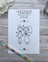Personalised Childrens VINTAGE STYLE Activity Pack /& Gift Bag Wedding Party HRT