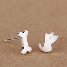 Dog Bone Pattern Lovely Women Girl Fashion Jewelry Gift Ear Stud Stud Earring