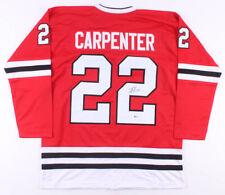 Ryan Carpenter Chicago Blackhawks Signed Hockey Jersey Beckett COA Authenticate!