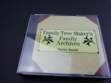 Family Tree Maker's Family Archives - Starter Bundle - Pc Cd-Rom Free S/H