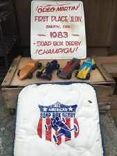 Wooden Soap Box Derby Lot 4 Hand Made Cars 1st Place Sandy Oregon Portland