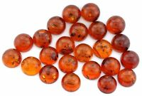 TWO 10mm Round Synthetic Baltic Amber Cab Cabochon Gem Stone Gemstone EBS8031