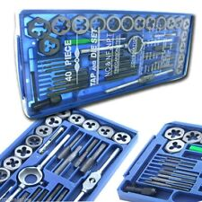 40pc Metric MM Tap and Die Set Tapping Threading Chasing W/Storage Case