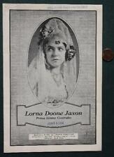 1930 Muncie,Indiana Ball State University Lorna Doone Jaxon Opera program-Rare!