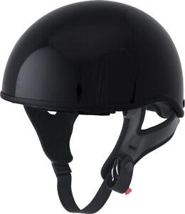 FLY .357 Motorcycle Half Helmet (Gloss Black) S (Small)