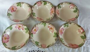 "Francisan Desert Rose Set of six Bowls (approx. 6"" diameter)"