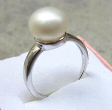 gorgeous AAA++10mm south sea white pearl 925S ring size adjustable