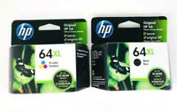 Genuine 2-PACK HP 64XL Black & Tri-Color Ink ENVY 7164 7864 NEW SEALED 06/2021