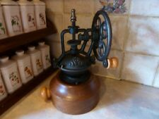 VINTAGE WOODEN IRON COFFEE GRINDER SPICE PEPPER MILL ARTS AND CRAFTS KITCHEN