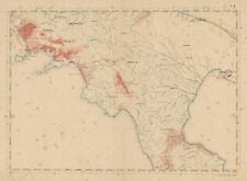 Carta geografica originale Italia Calabria Campania Basilicata Virano Teano 1978