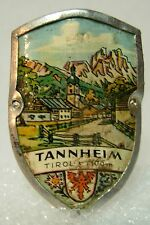 Tannheim Tirol used badge mount stocknagel hiking medallion G5607
