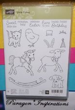 NEW Stampin Up LITTLE CUTIES photopolymer stamps Cat Dog Horse Pony Chick Animal