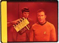 Star Trek TOS 35mm Film Clip Slide World Hollow Clapper Board Spock Kirk 3.8.8