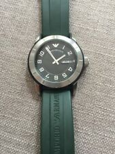 Emporio Armani Sport Watch Unisex Green Rubber Strap AR5874 SOLD OUT Rare $295
