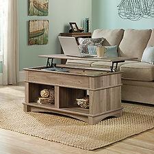 Sauder Living Room Lift Top Storage Coffee Salt Oak Finish