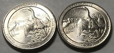 2014 P and D 2 Coin Everglades Washington Quarters Set In Excellent Condition