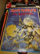 IRON MAIDEN VINTAGE 1985 85 LIVE AFTER DEATH PROMOTIONAL EDDIE POSTER -NICE!