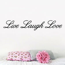 LIVE LAUGH LOVE Quote Words Wall Decal Home Decor Room Removable Vinyl Sticker