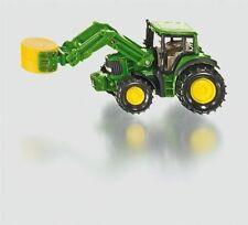 SIKU 1379 John Deere Tractor With Bale Grab Green