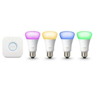 Philips Hue Gen 3 60W A19 White & Color Ambiance Smart 4 Bulb Kit - 471960