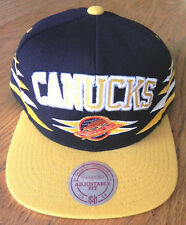 VANCOUVER CANUCKS NHL MITCHELL AND NESS VINTAGE SNAPBACK DIAMONDS CAP HAT NWT!