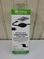 ReTrak Retractable Lightning to USB Cable | Charge & Sync | 3 ft |
