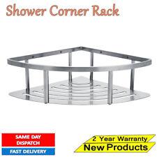 Metal 1 Tiers Shower Storage BathRoom Shelf Corner Organiser Caddy Basket Rack