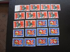 SUISSE - timbre yvert et tellier n° 728 729 x10 obl (A4) stamp switzerland