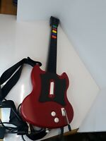PS2 Guitar Hero Gibson Red Octane Wired Controller Model PSLGH w/ Strap Untested
