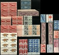 USA Air Mail Postage Stamps Blocks Collection Airmail Mint