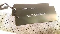 Dolce & Gabbana Men's Cotton Silk Skinny Tie w/ Tags, Italy Luxury Designer