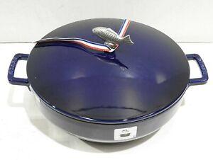 Staub - Cast Iron 28cm Bouillabaisse Pot Blue