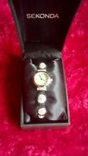 BNIB! NICE LADIES SEKONDA WRISTWATCH CRYSTALLA CRYSTAL BALL STRAP RRP £59.99