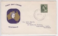 Stamp Australia 3d green QE2 definitive issue on Guthrie generic cachet type FDC