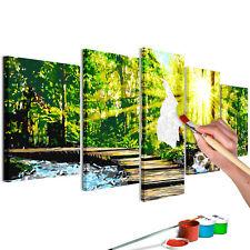 Malen nach Zahlen Erwachsene Wandbild 100x50 cm Malvorlagen Wald n-A-0607-d-m