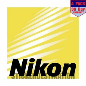 Nikon 4 pack 4x4 Inch Sticker Decal